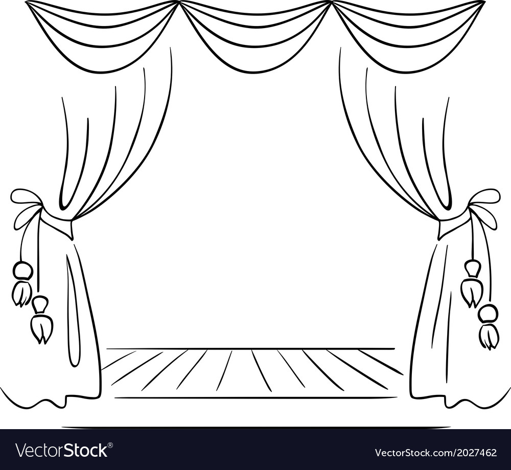 Theater stage sketch vector | Price: 1 Credit (USD $1)