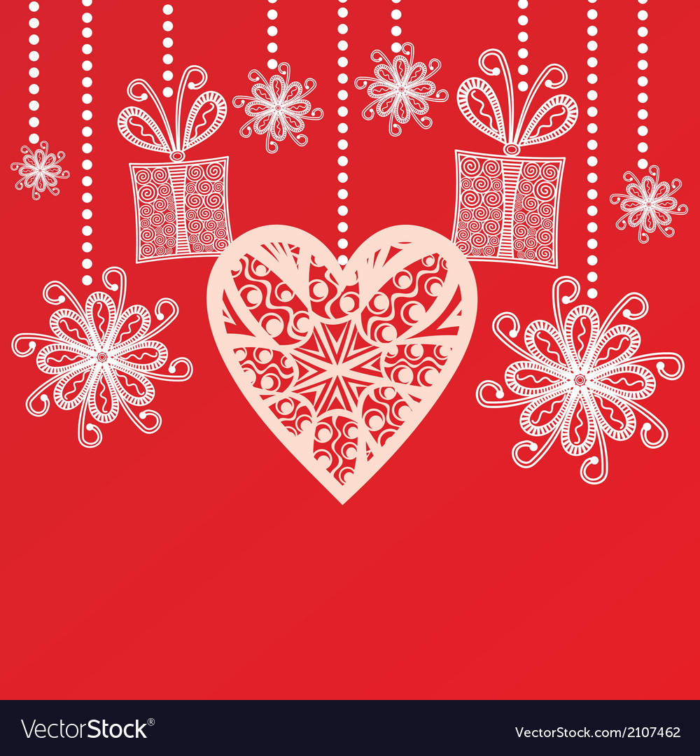 Valentines day card hearts vector | Price: 1 Credit (USD $1)