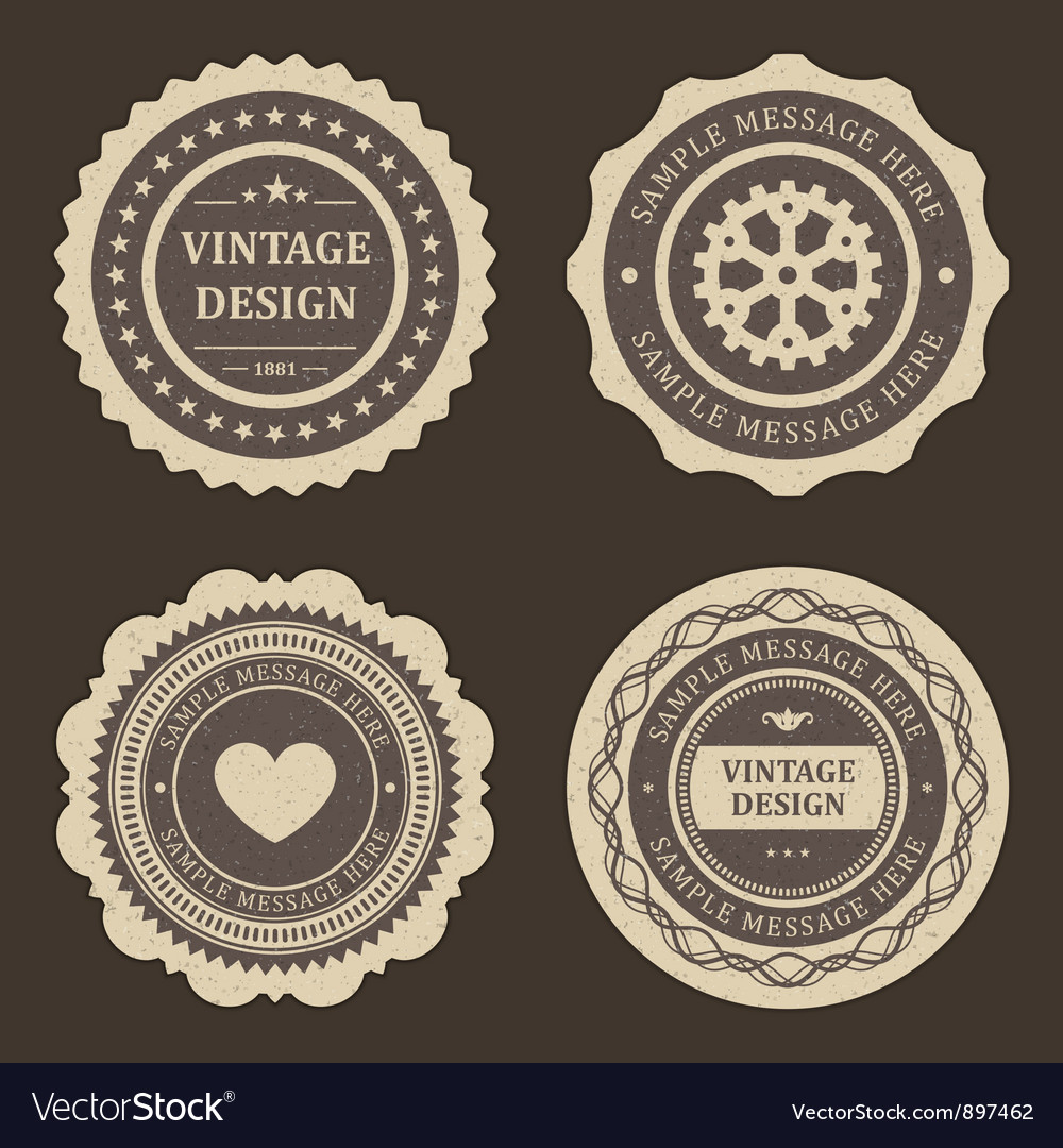 Vintage labels set vector | Price: 1 Credit (USD $1)
