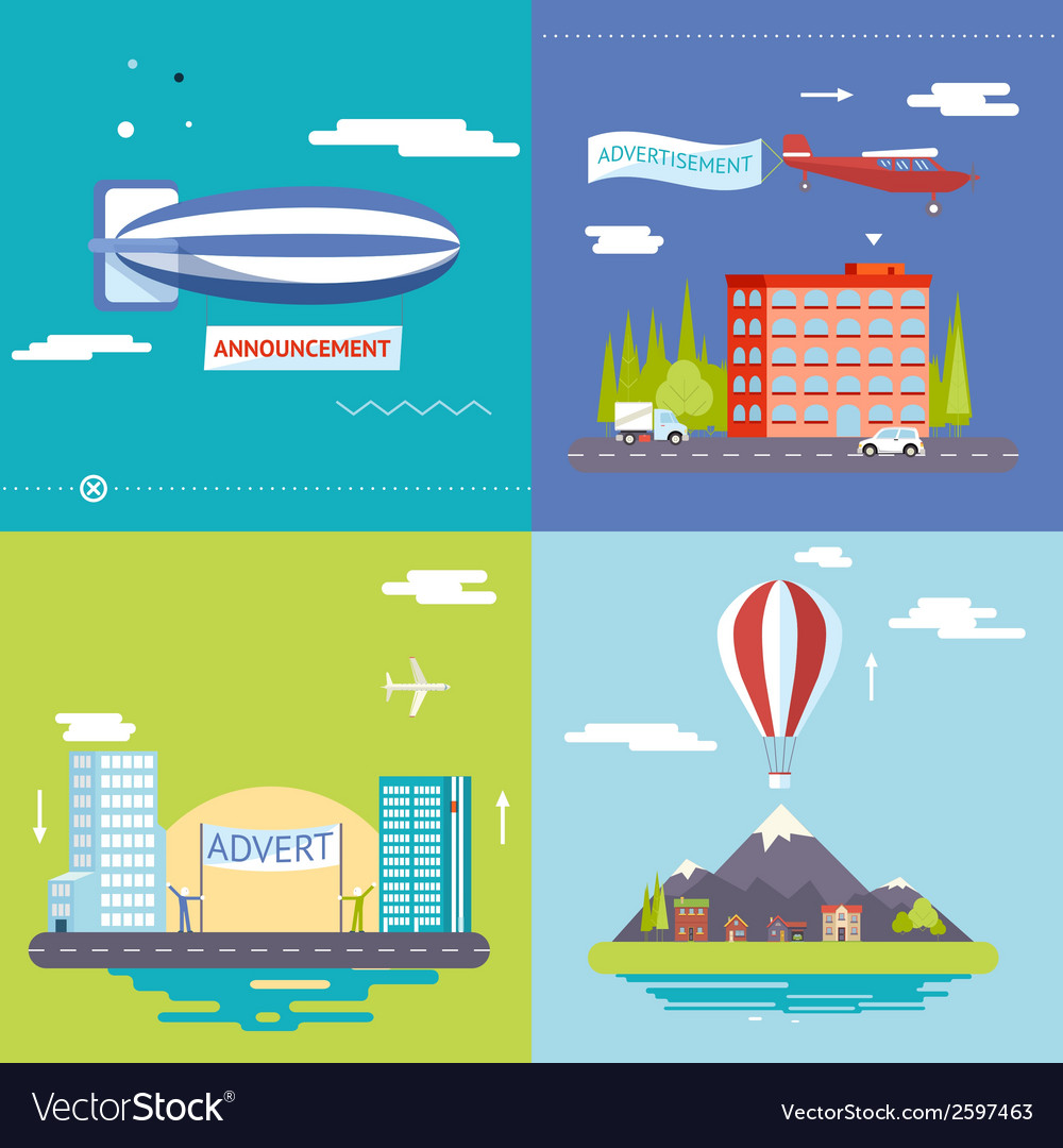 Advertisement commercial promotion poster symbols vector | Price: 1 Credit (USD $1)