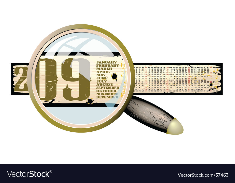 Calendar 2009 banner vector | Price: 1 Credit (USD $1)