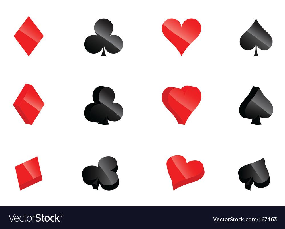 Casino card symbols vector | Price: 1 Credit (USD $1)