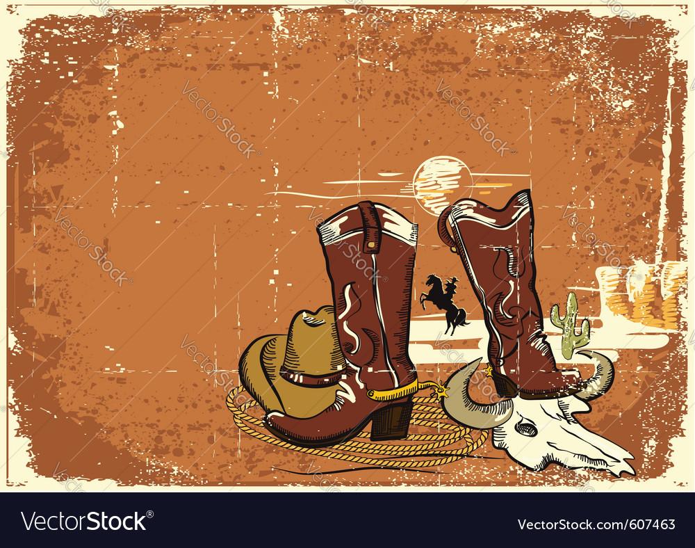 Cowboy elements vector | Price: 1 Credit (USD $1)