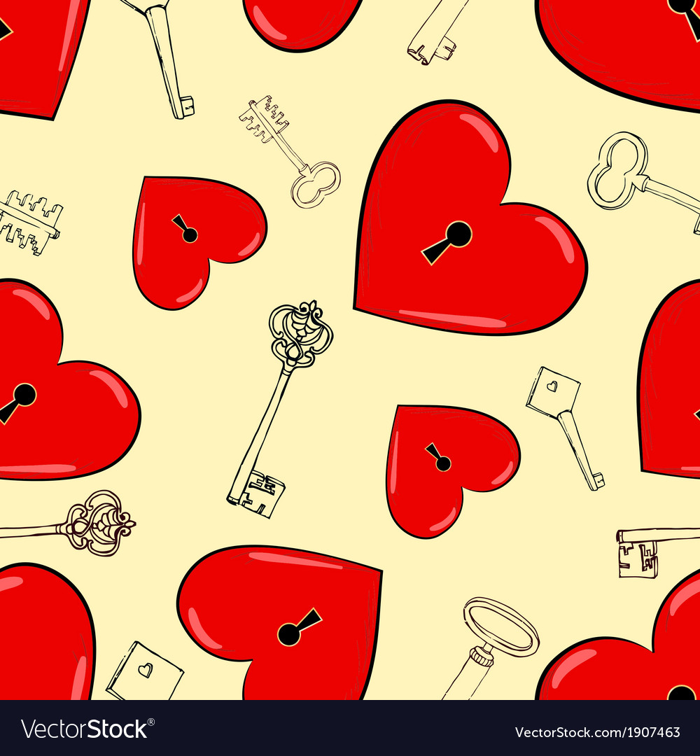 Heart and keys vector | Price: 1 Credit (USD $1)
