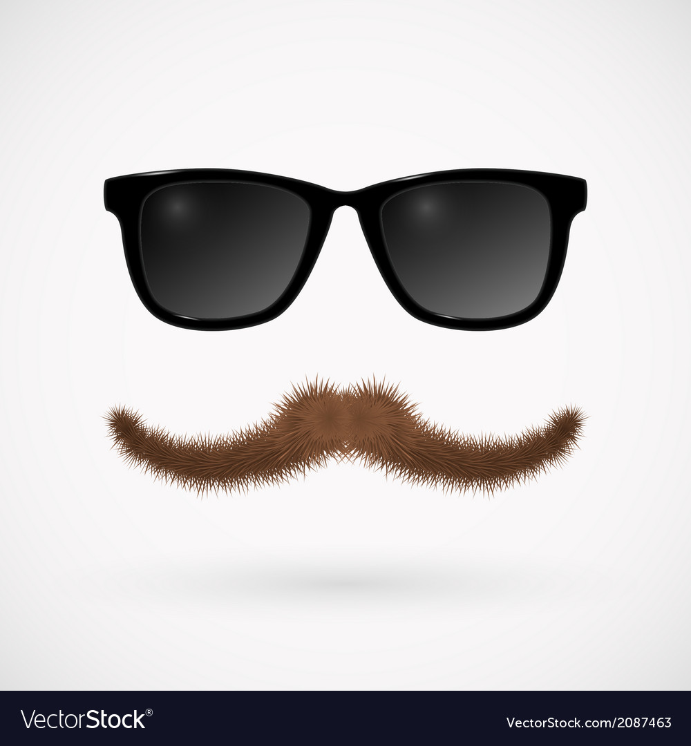 Hipster glasses and mustache vector   Price: 1 Credit (USD $1)