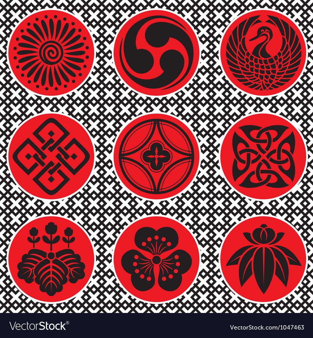 Japan ornament elements vector | Price: 1 Credit (USD $1)
