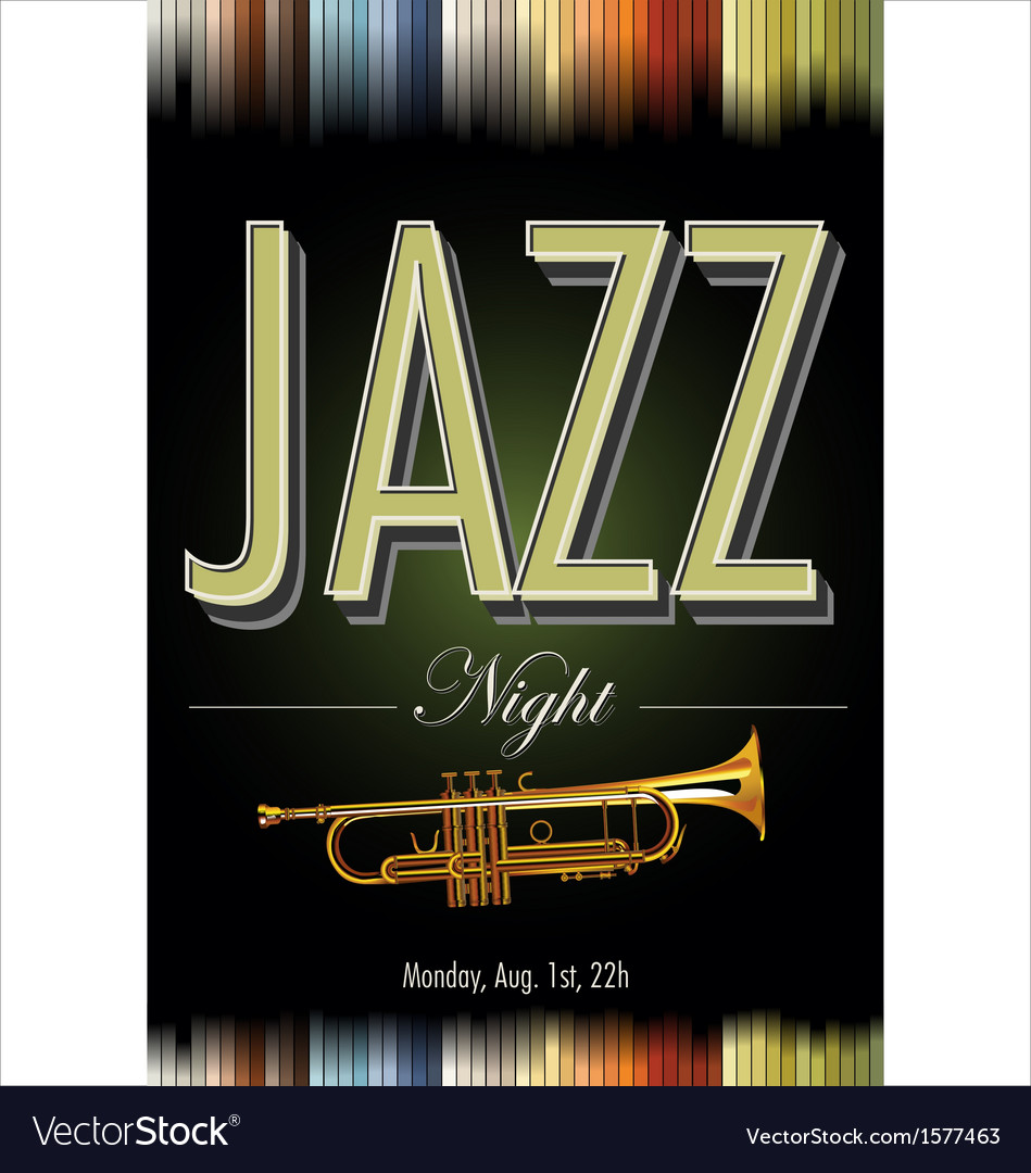 Jazz poster vector | Price: 1 Credit (USD $1)