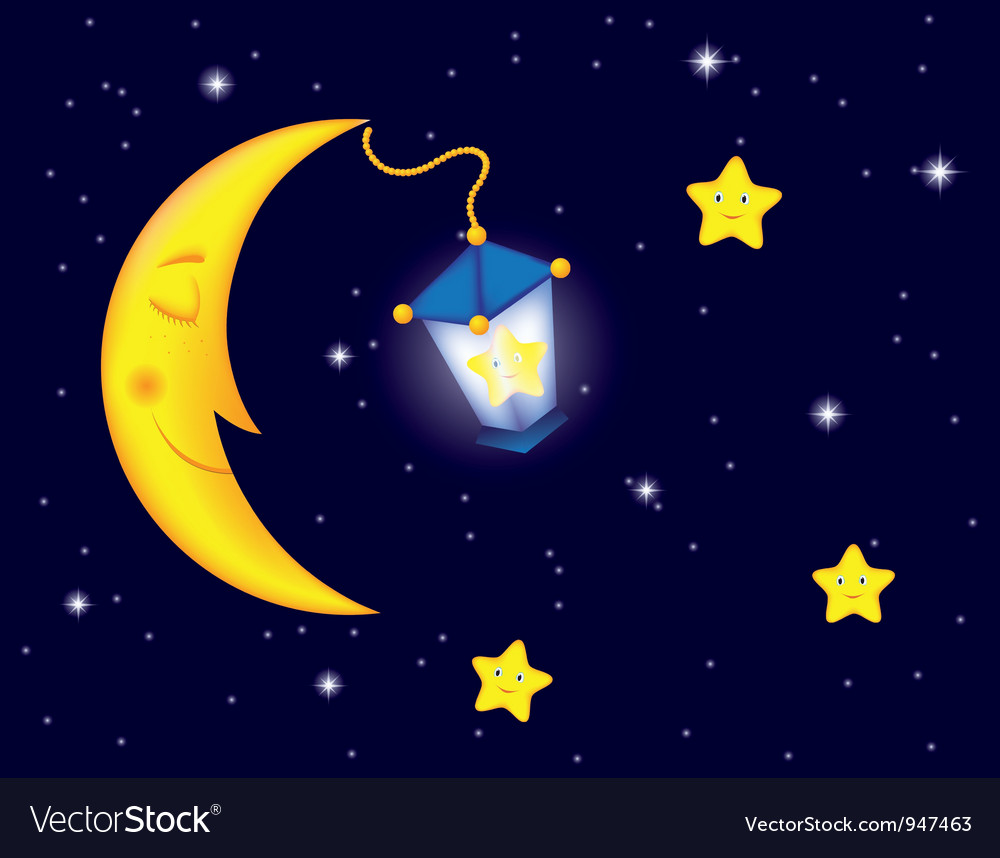 Moon flash vector | Price: 1 Credit (USD $1)
