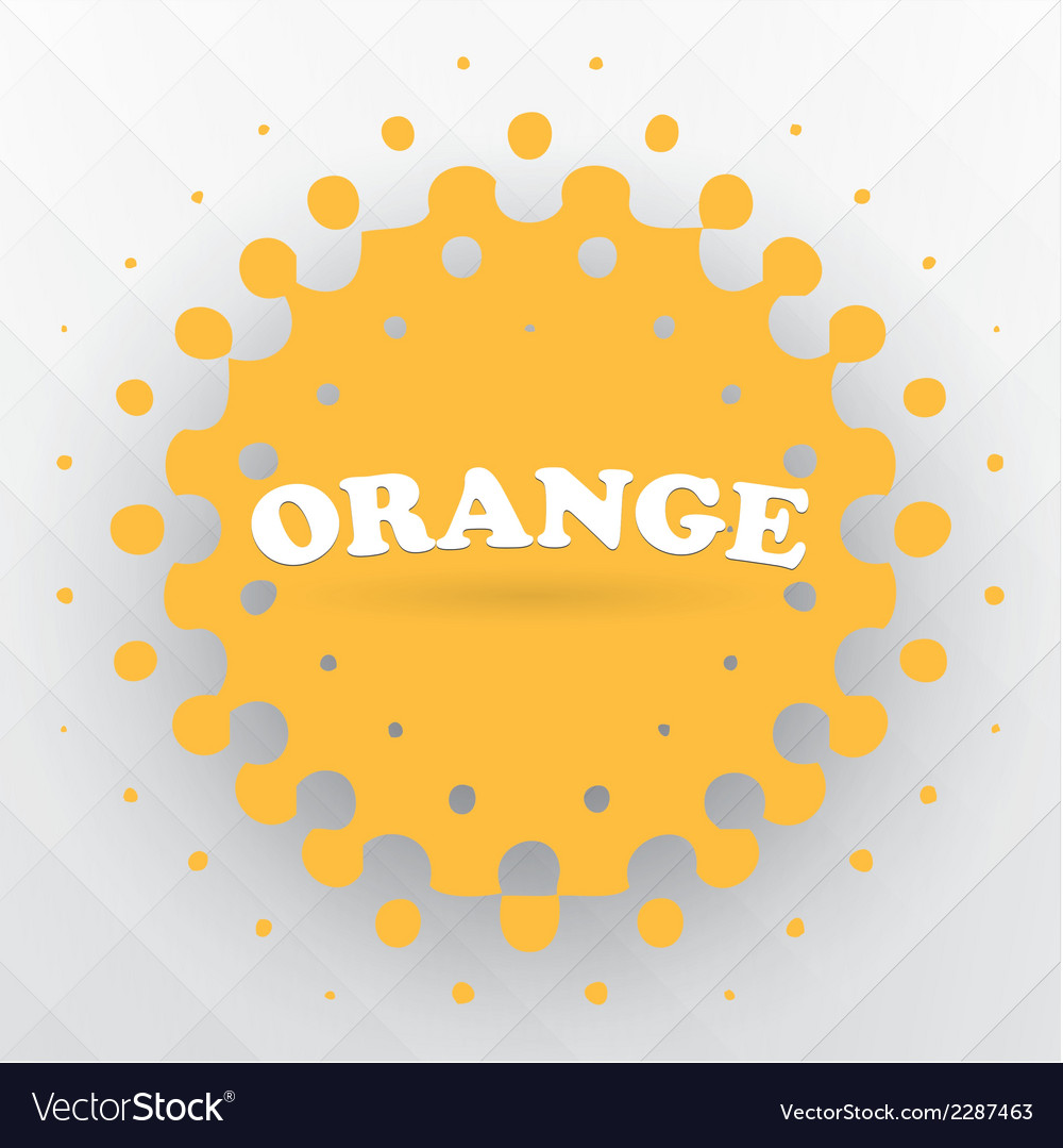 Orange splash background vector | Price: 1 Credit (USD $1)