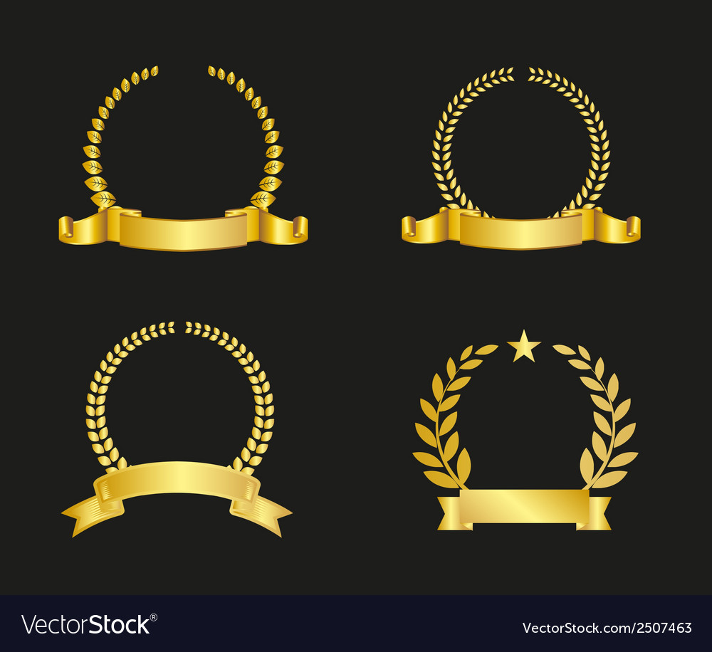 Ribbon and laurel wreath vector | Price: 1 Credit (USD $1)