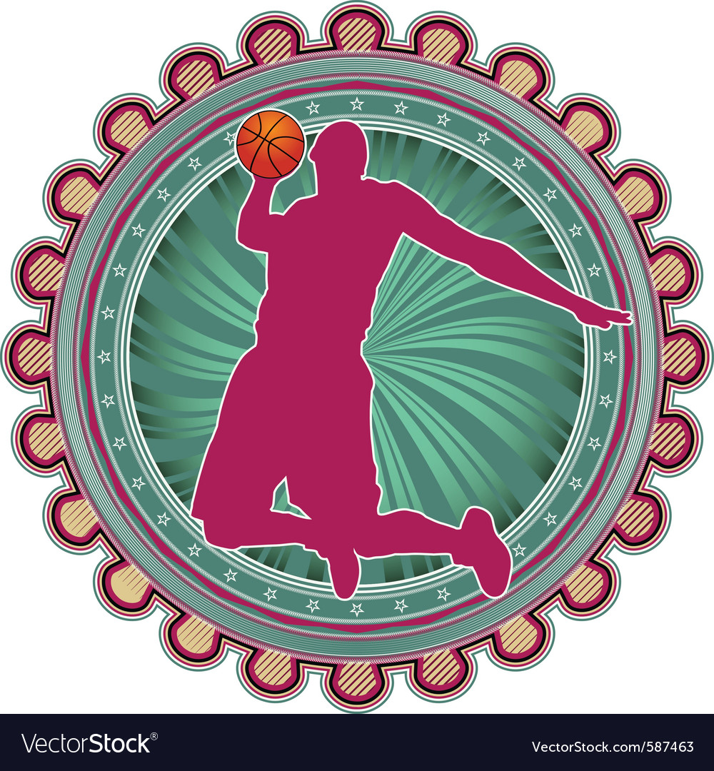 Sport emblem basketball vector | Price: 1 Credit (USD $1)
