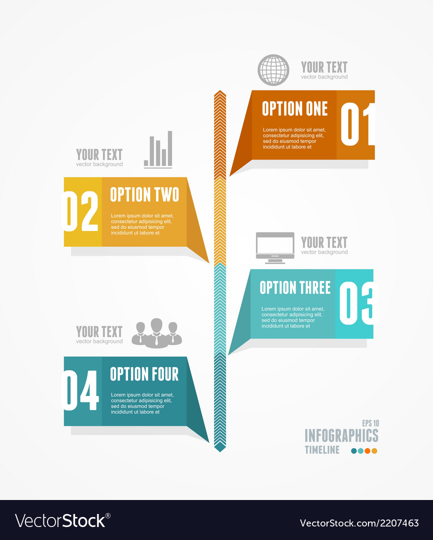 Timeline infographic retro style vector | Price: 1 Credit (USD $1)