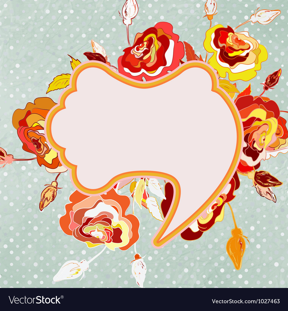 Vintage floral frame eps 8 vector | Price: 1 Credit (USD $1)
