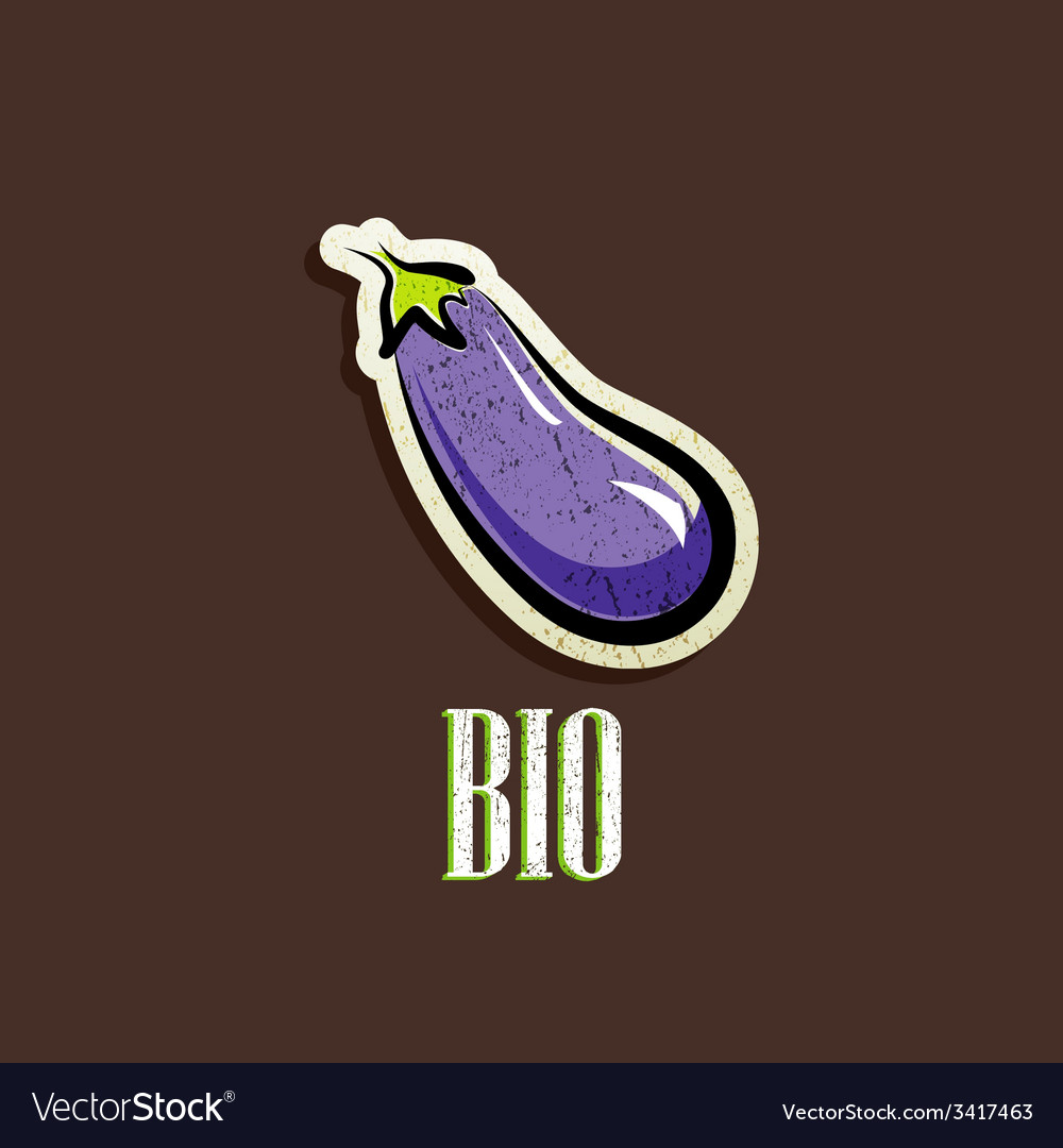 Vintage with an eggplant vector | Price: 1 Credit (USD $1)