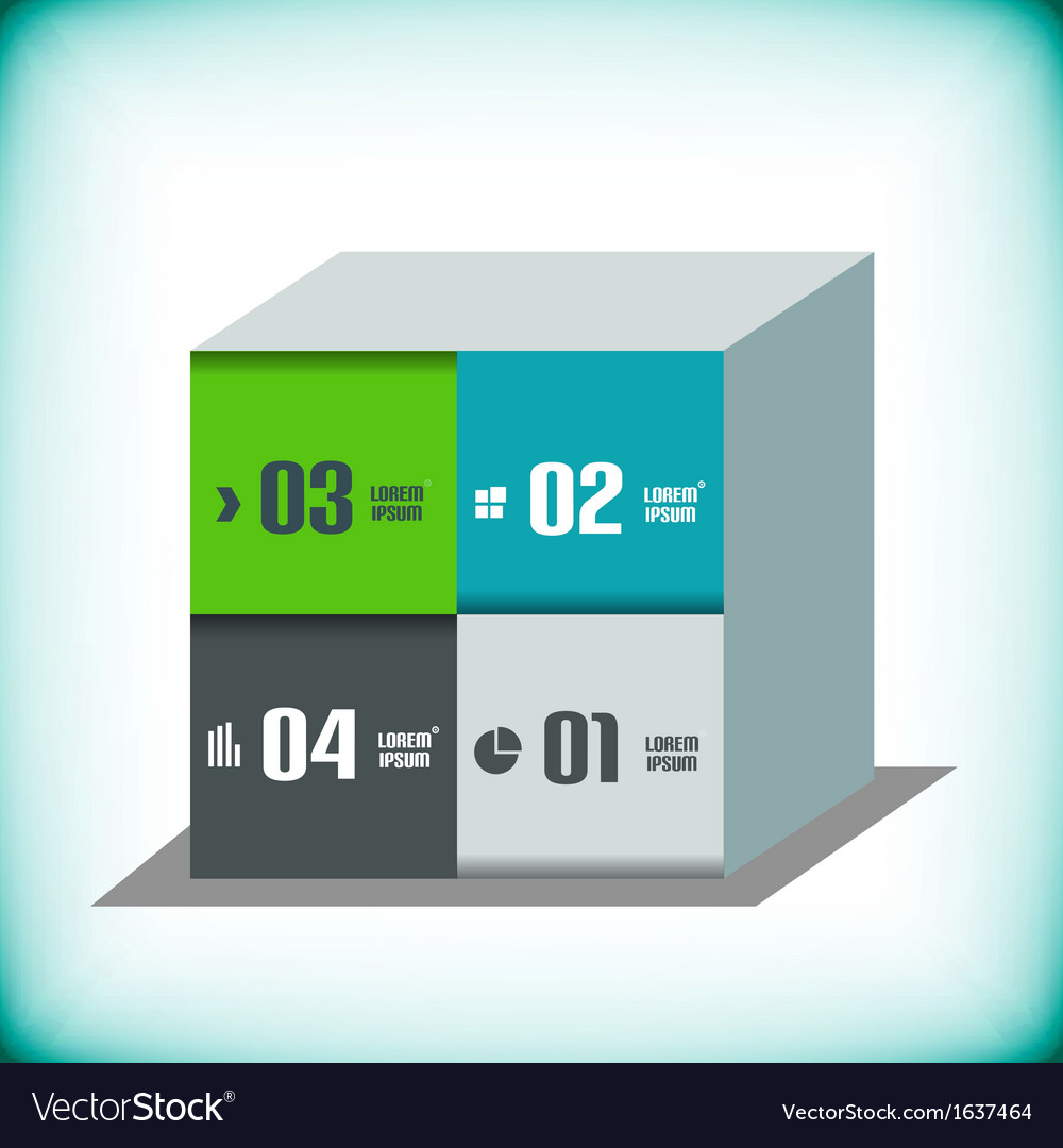 Business 3d geometrical banner vector | Price: 1 Credit (USD $1)