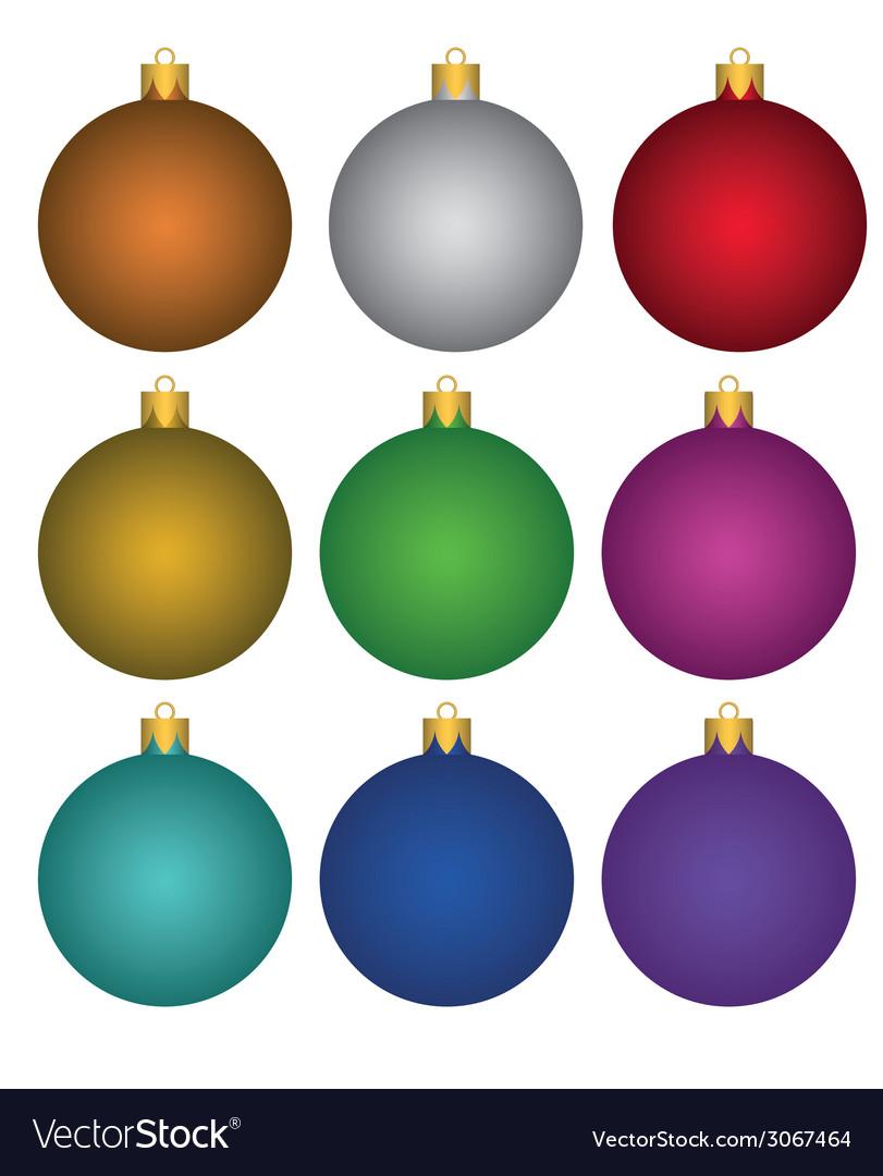 Colorful christmas balls vector | Price: 1 Credit (USD $1)