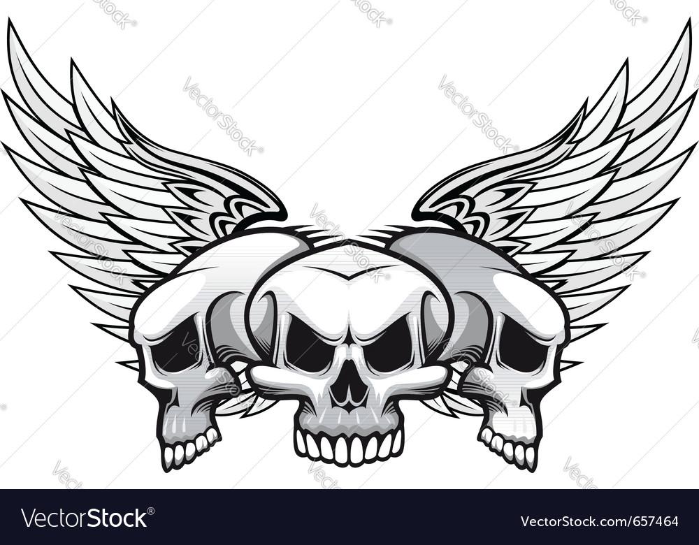 Danger skulls vector | Price: 1 Credit (USD $1)