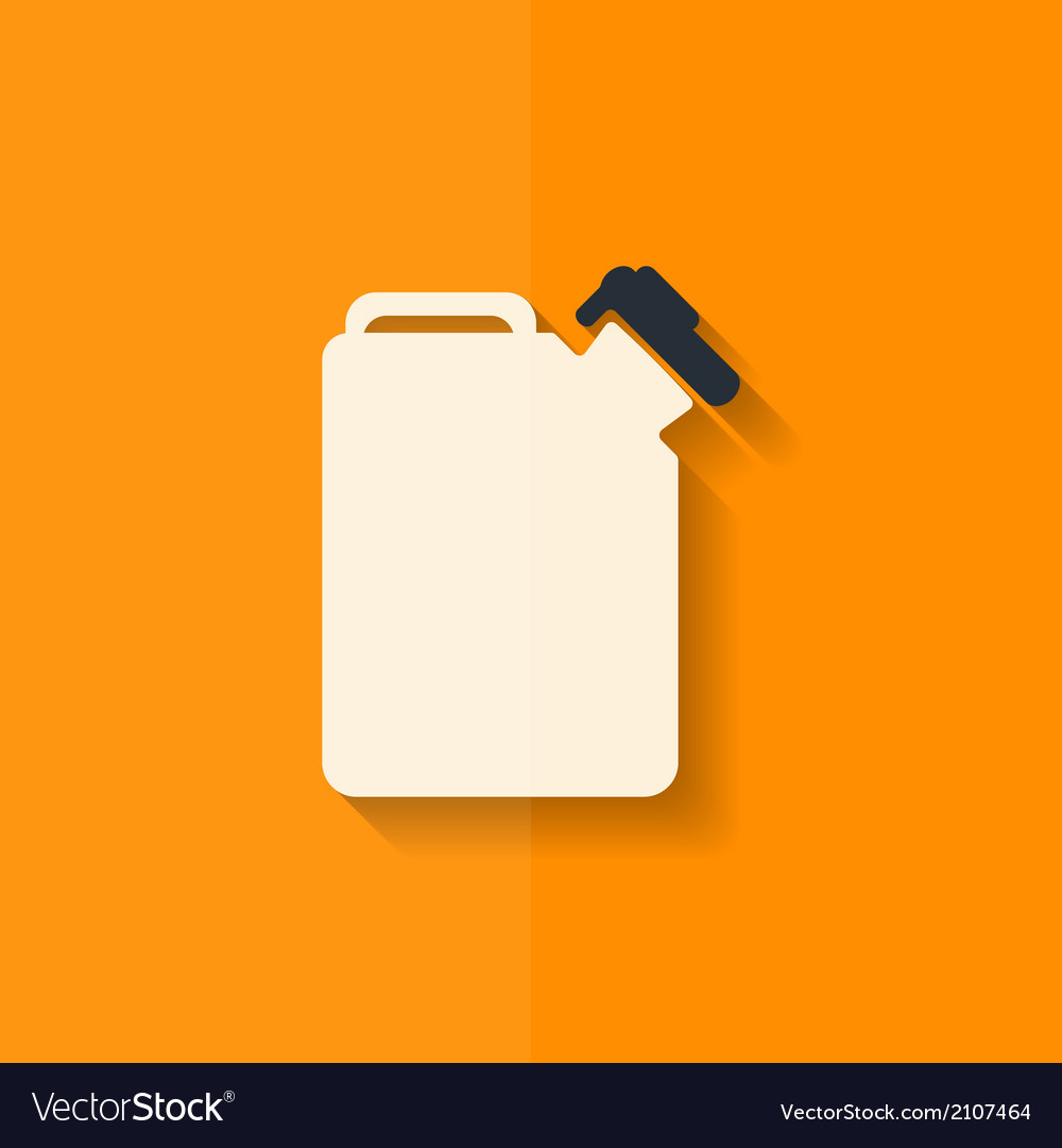 Fuel jerrycan icon flat design vector | Price: 1 Credit (USD $1)