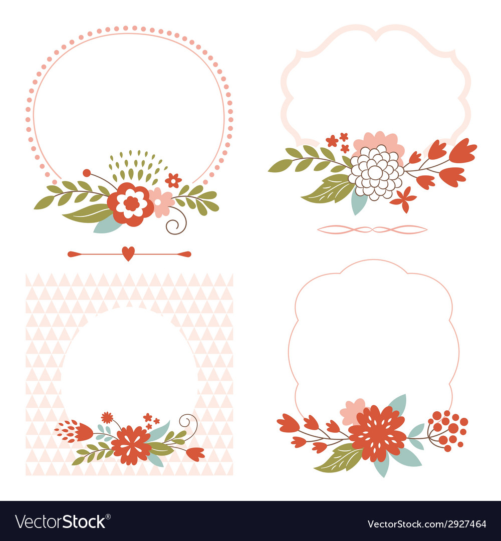 Holiday collection cute frames vector | Price: 1 Credit (USD $1)