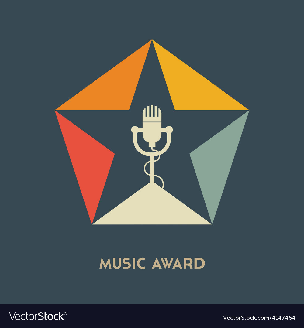 Music award logo label badge or design elemen vector | Price: 1 Credit (USD $1)