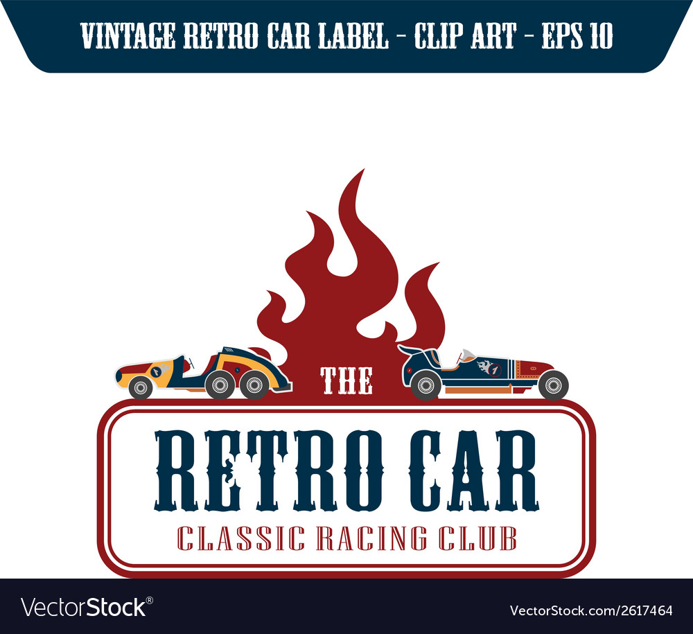 Retro transport and racing element vector | Price: 1 Credit (USD $1)