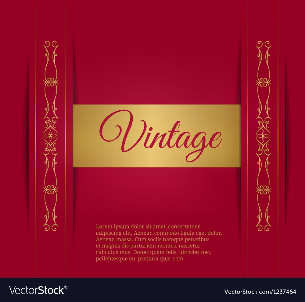 Royal vintage on a burgundy background vector | Price: 1 Credit (USD $1)