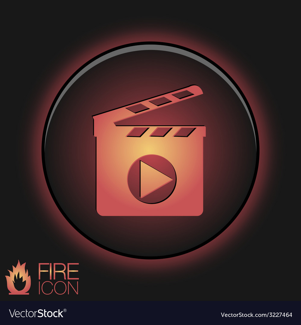 Slate board symbol of cinema vector | Price: 1 Credit (USD $1)