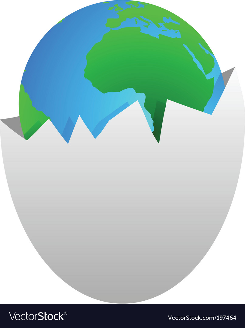 World in egg shell vector | Price: 1 Credit (USD $1)