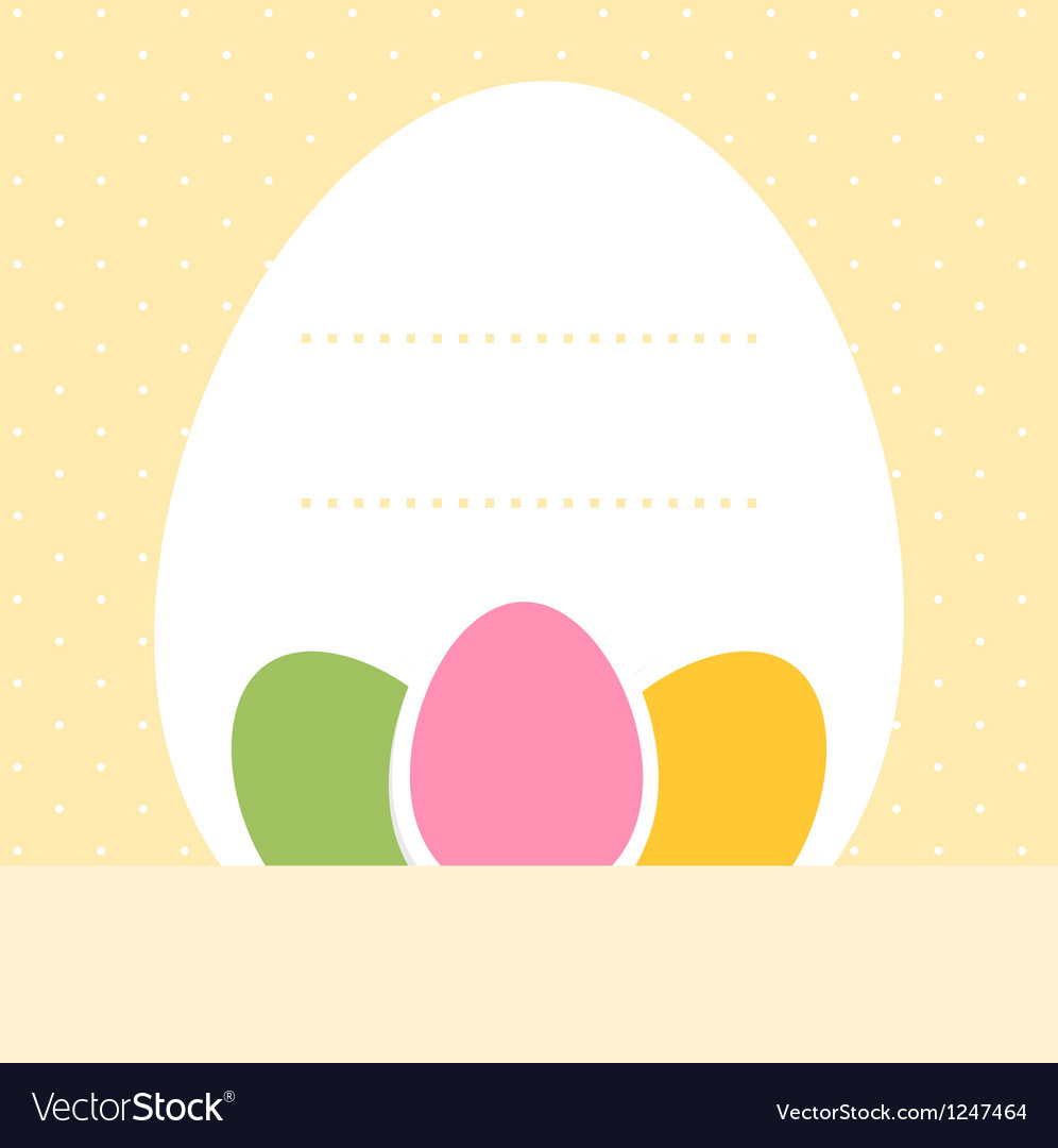 Yellow blank dotted easter background with eggs vector   Price: 1 Credit (USD $1)
