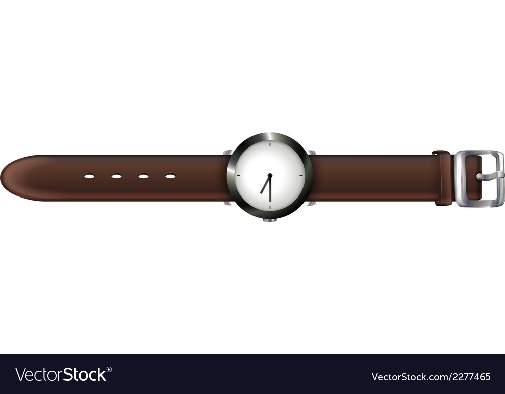 A topview of a watch vector | Price: 1 Credit (USD $1)