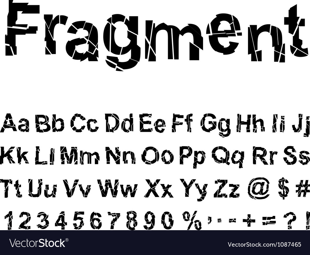 Abstract fragment font vector | Price: 1 Credit (USD $1)