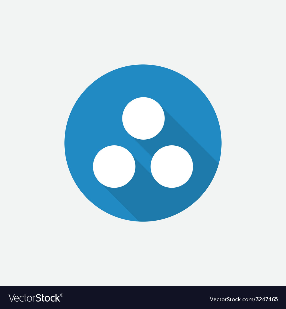 Circle diagram flat blue simple icon with long vector | Price: 1 Credit (USD $1)
