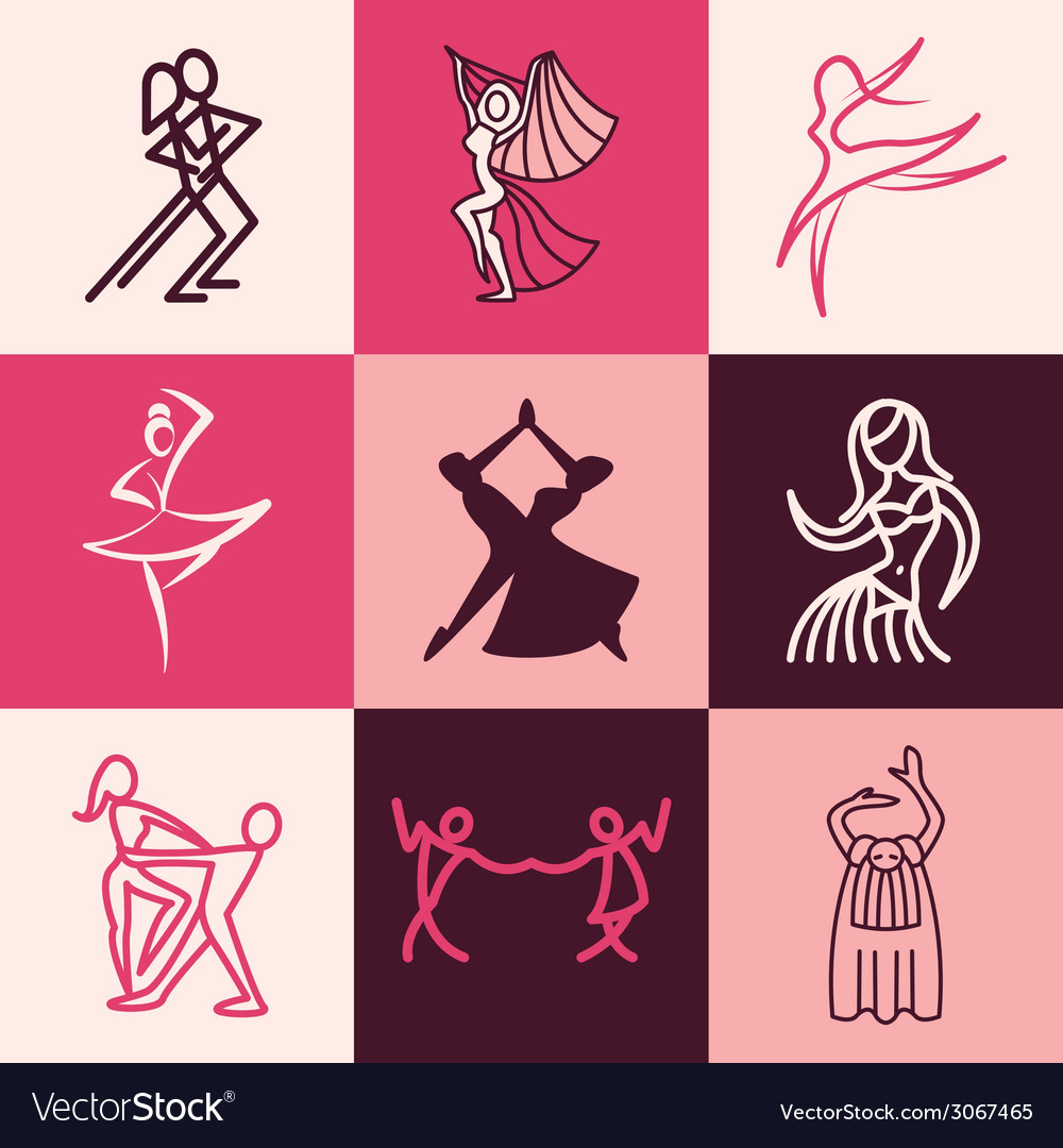 Dances logo icons vector | Price: 1 Credit (USD $1)