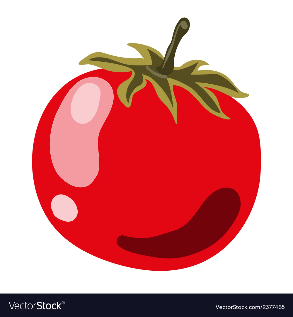 Red ripe tomato vector   Price: 1 Credit (USD $1)