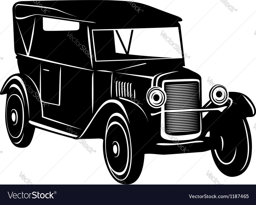 Vintage car of 1920s years vector | Price: 1 Credit (USD $1)