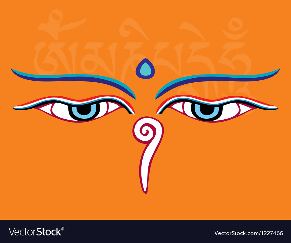 Buddha eyes or wisdom eyes - religious symbol vector | Price: 1 Credit (USD $1)