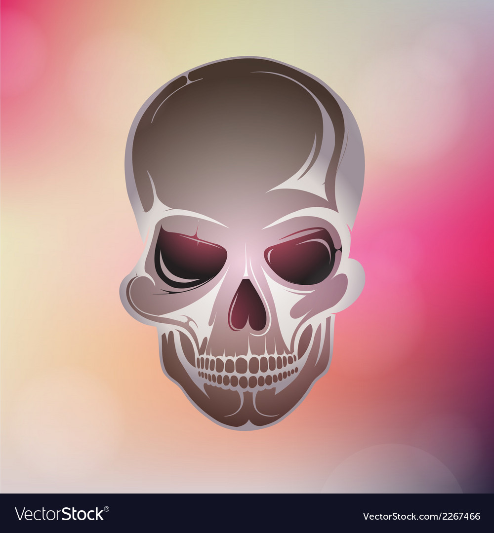 Colorful skull design vector | Price: 1 Credit (USD $1)