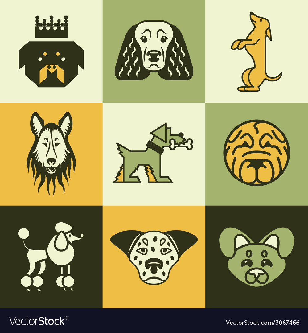Dogs logo icons vector | Price: 1 Credit (USD $1)