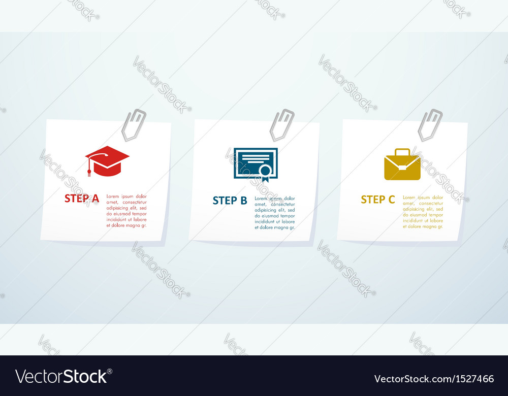 Education info graphic steps vector | Price: 1 Credit (USD $1)