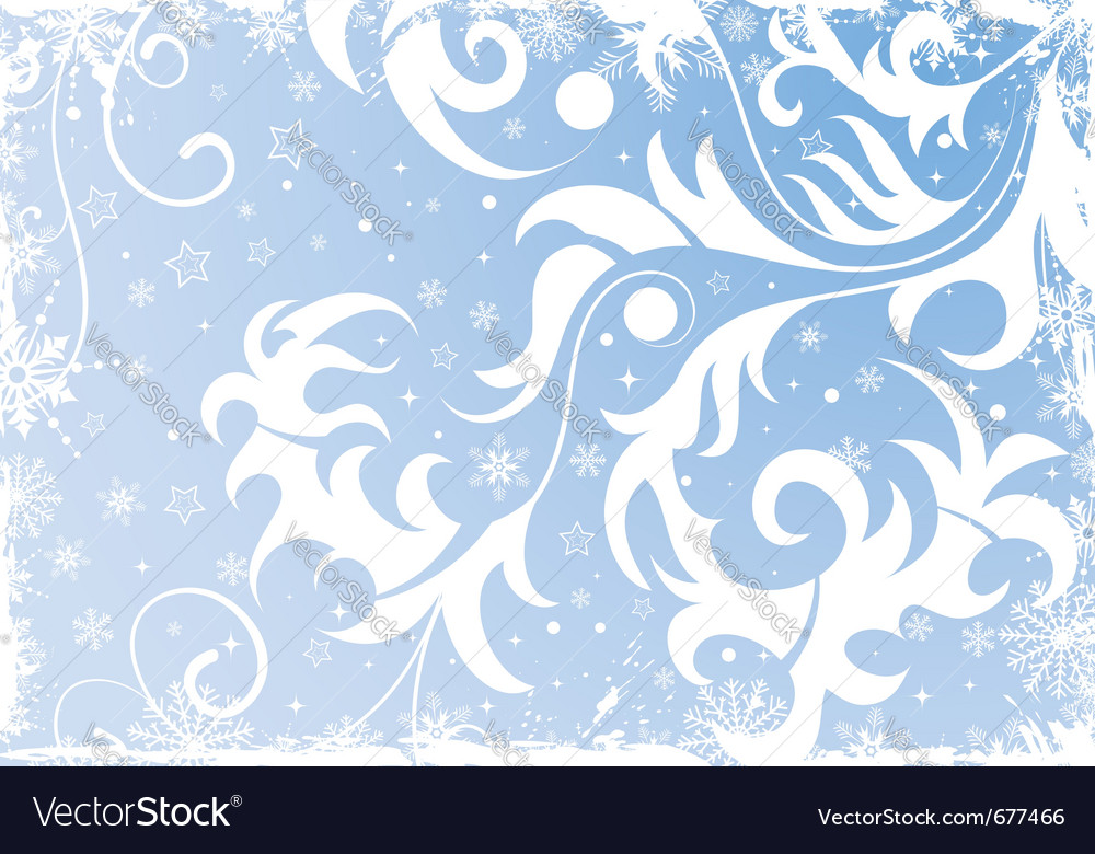 Grunge floral christmas vector | Price: 1 Credit (USD $1)