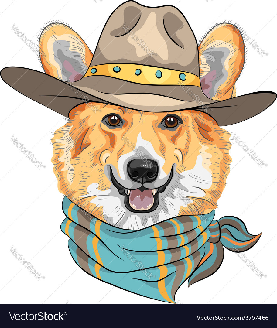 Hipster dog pembroke welsh corgi vector | Price: 3 Credit (USD $3)