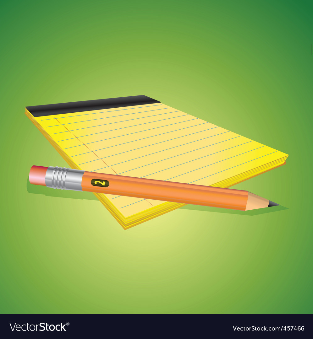 Pencil and paper vector | Price: 1 Credit (USD $1)