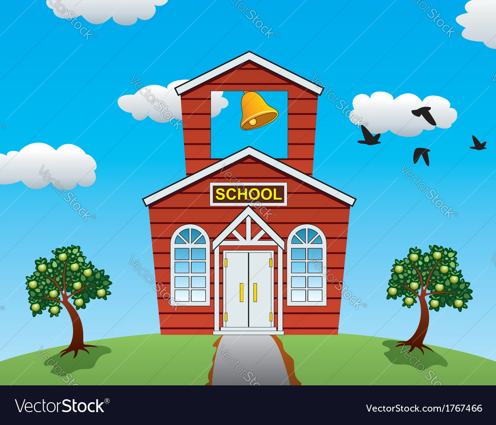 School house vector | Price: 1 Credit (USD $1)