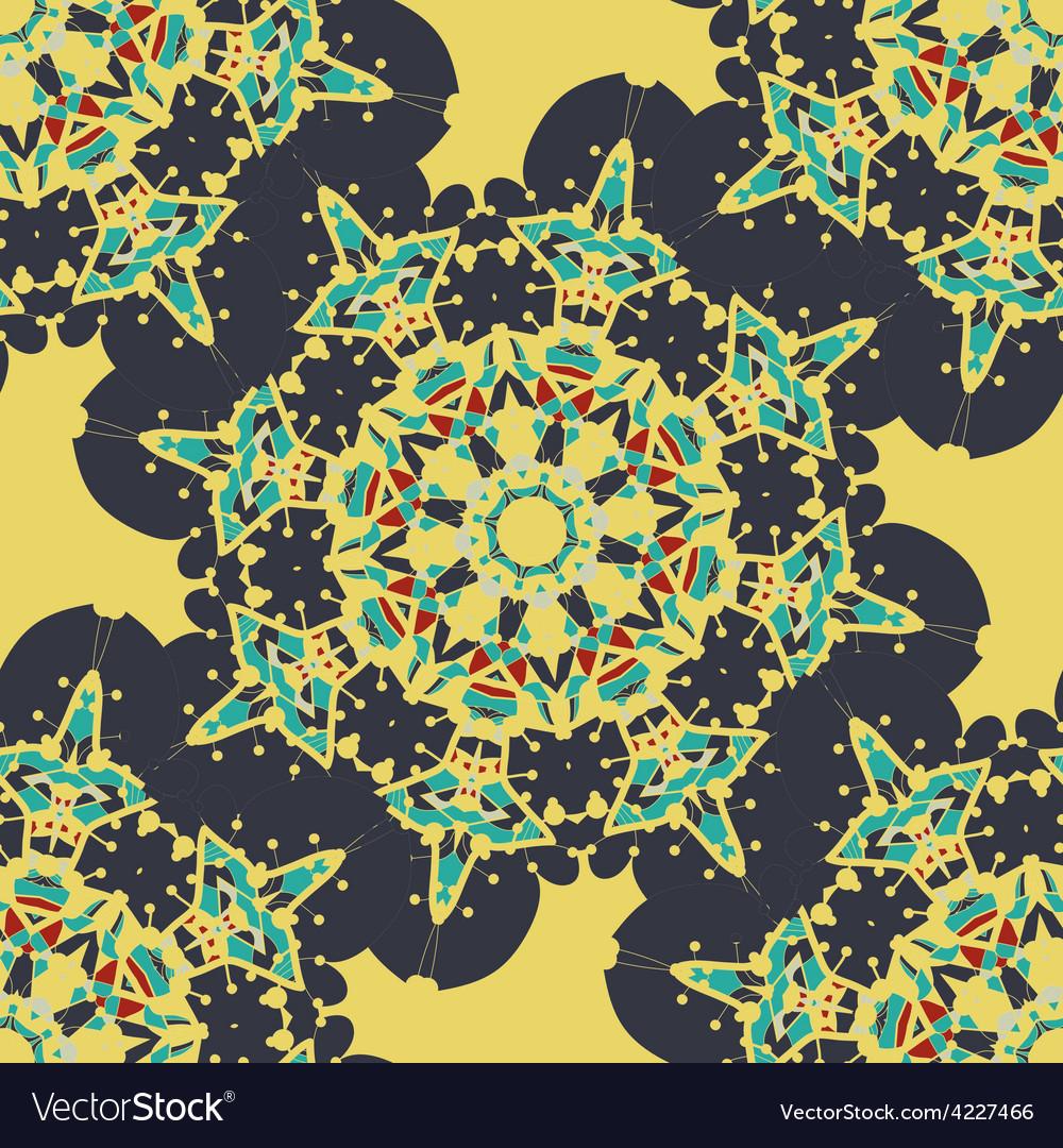 Seamless mandala  vintage decorative element vector | Price: 1 Credit (USD $1)