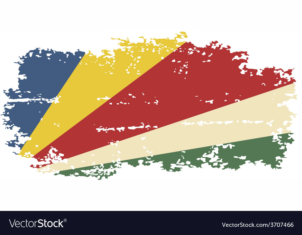 Seychelles grunge flag vector | Price: 1 Credit (USD $1)