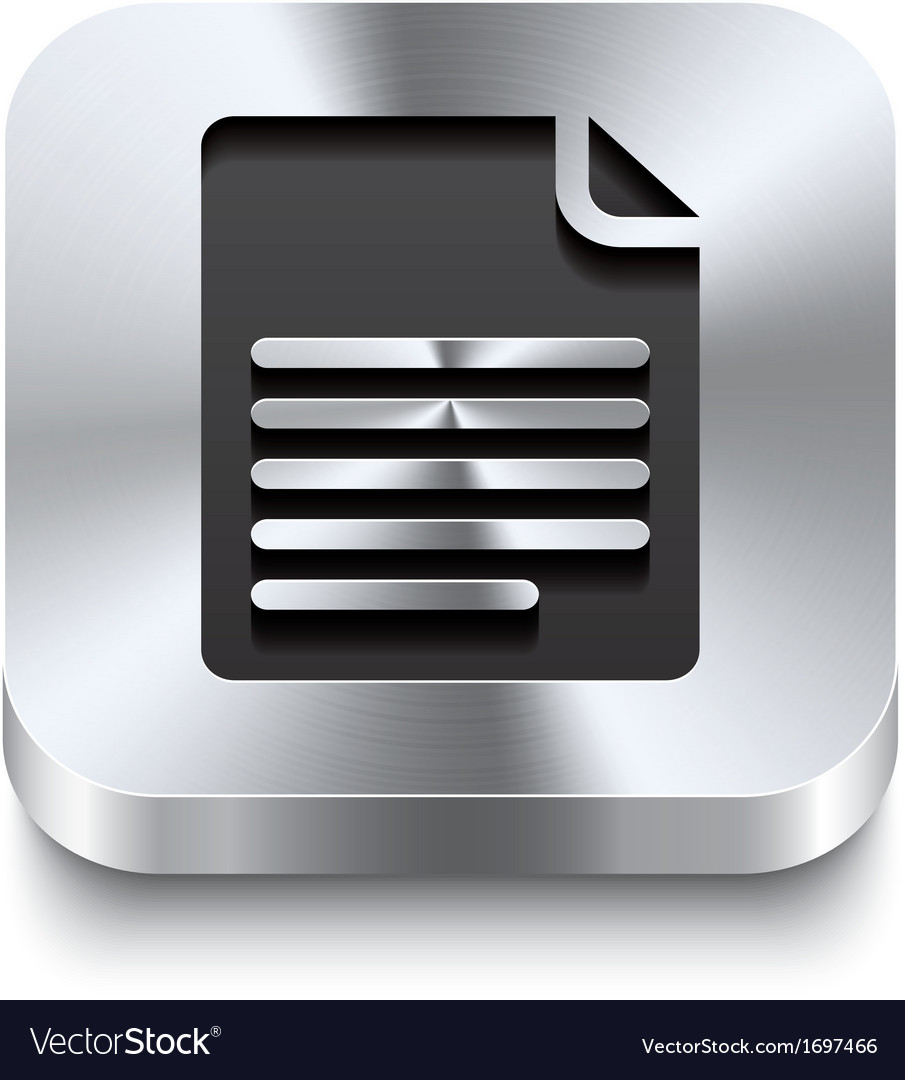 Square metal button perspektive - page curl icon vector | Price: 1 Credit (USD $1)