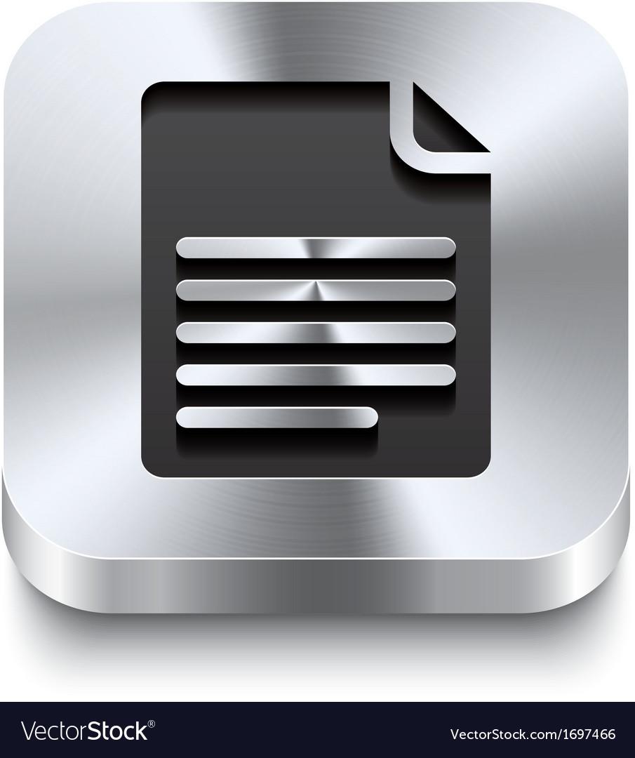 Square metal button perspektive - page curl icon vector | Price: 1 Credit (USD $1)