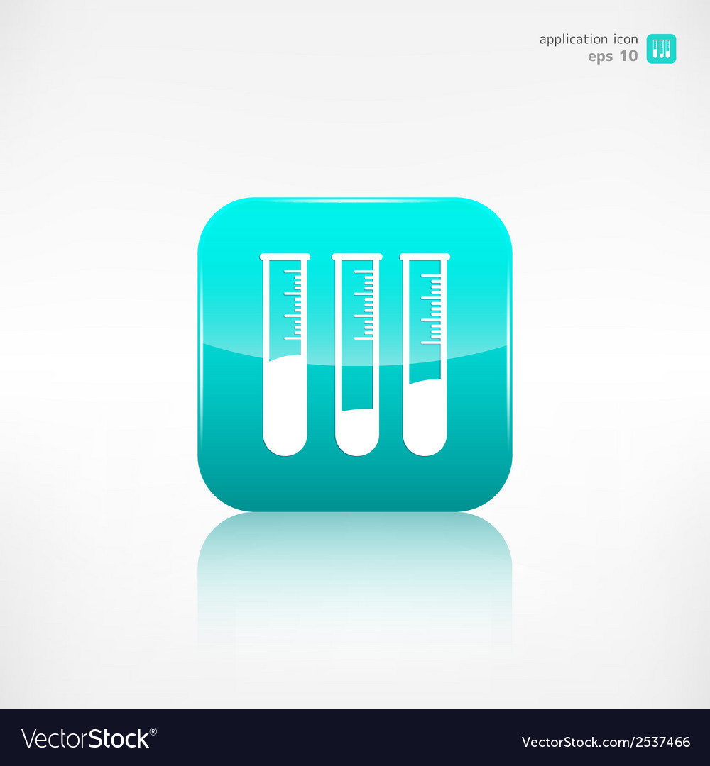 Test tube icon microbiology equipment vector | Price: 1 Credit (USD $1)