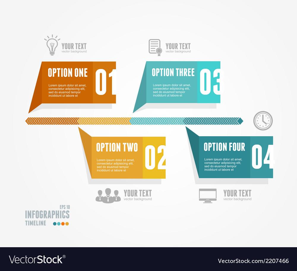 Timeline infographic retro style vector | Price: 1 Credit (USD $1)