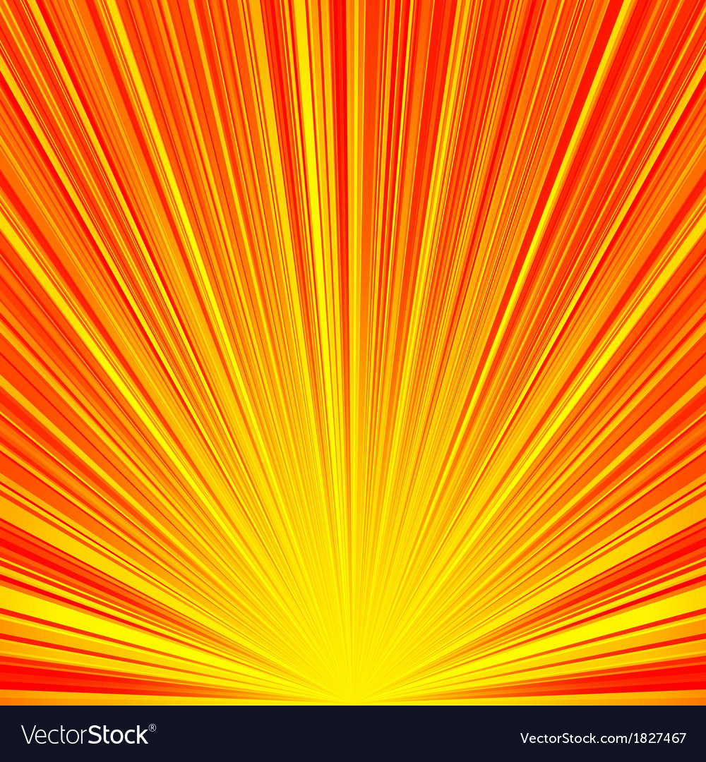 Abstract red and orange stripes burst background vector | Price: 1 Credit (USD $1)